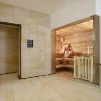 Zugang Dusche und Sauna