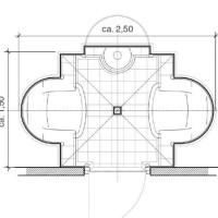 Dampfbad Grundriss der Cocon Standard-Version