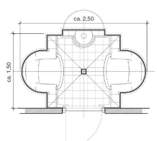 dampfbad grundriss der cocon standard version hilpert feuer spa. Black Bedroom Furniture Sets. Home Design Ideas