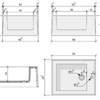 Einteiliges Keramik-Fußbecken als Monoblock! Das keramische Design-Becken für Ihr Fußbad aus einem Block bzw Teil.