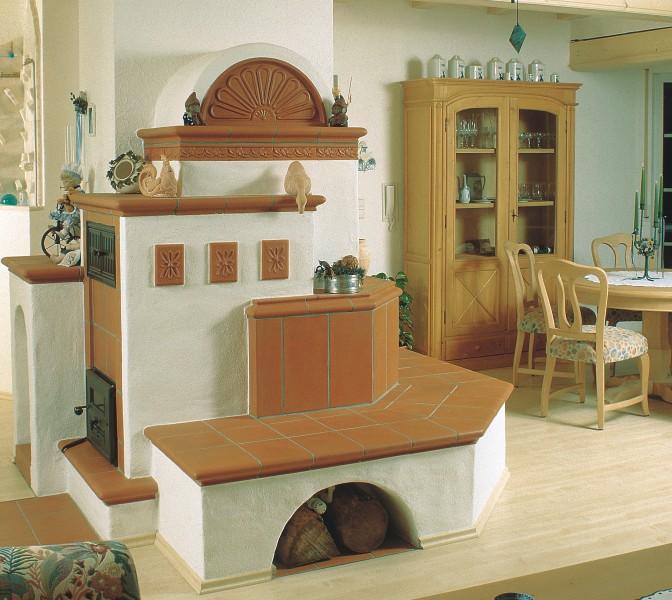ofen im landhausstil mit sitzbank aus keramik hilpert. Black Bedroom Furniture Sets. Home Design Ideas