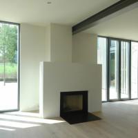moderner Kamin im Landhaus