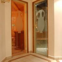 Eingang zum Dampfbad und zur Sauna