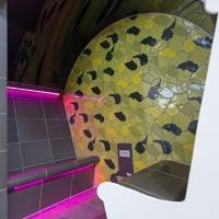 Messe Interbad 2014 - Spa Wellness Aussteller - Dampfbad mit LED Beleuchtung