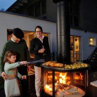 """Grillkamin für Garten, Tarrasse und Bakon: z.B: mit dem Rueegg """"Surprise"""" grillen BBQ"""