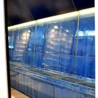 Dampfbad Messekabine - koerperform Rückenlehne mit LED / Deckenanschluss