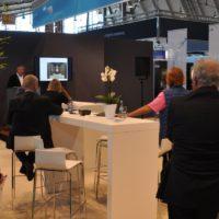 Herr Hilpert hält einen Fachvortrag - Creating Atmospheres auf der Interbad 2016