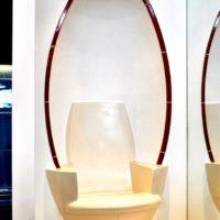 Interbad - Keramik Sessel / Sitz - Dampfbad / SPA Hamam (oval) - Sitznische/Nische