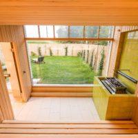 Romantikhotel Fischerwiege Ahrenshoop Sauna Saunaofen Keramik Einfassung
