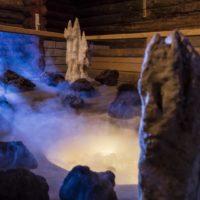 Wellnesshotel Therme Bussloo Geisyr Sauna Vulkan Gestein Nebel