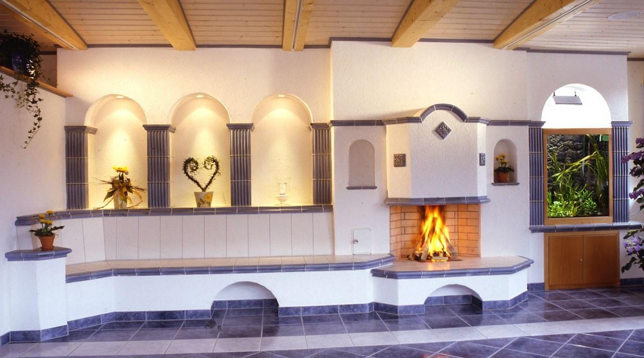 Romantisch Rustikal Hilpert Dampfbad Kachelofen Und Kamin
