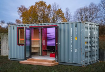 Container-Spa mit Dampfbad, Sauna und Dusche mieten!