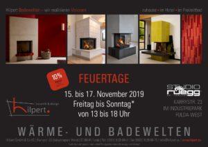 FEUERTAGE 2019 – Bauherrenmesse, Hausmesse und Tage der offenen Tür in unserer Kamin- und Kachelofen-Ausstellung mit Rüegg-Studio in Fulda.