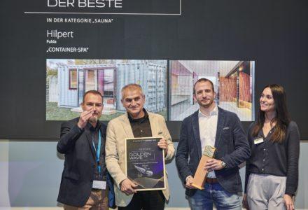 """Hilpert mit dem """"Golden Wave"""" 2019 ausgezeichnet – Container-SPA überzeugte Jury"""