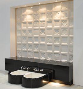 Dekorative Wandgestaltung: Keramik an die Wand gebracht (Fliesen + Platten)