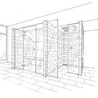 Privatspa: Wellnessbereich im Dachgeschoss (DG) eines Wohnhauses Perspektive Ansicht