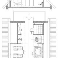 Privatspa: Wellnessbereich im Dachgeschoss (DG) eines Wohnhauses Grundriss Schnitt