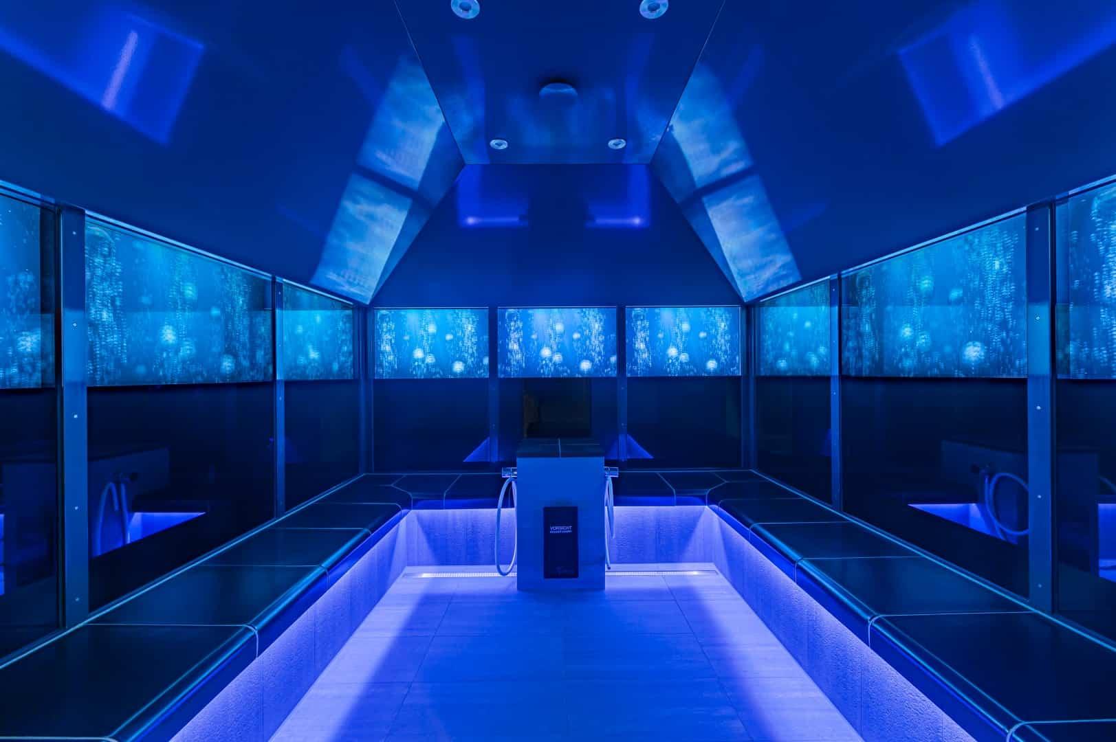 Dampfbad und Dusche im Freizeitbad GochNess