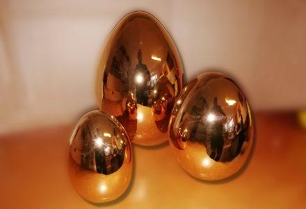 Keramik Ostereier bunt oder gold (Echtgold) Osterdeko klein, mittel oder groß (XXL)
